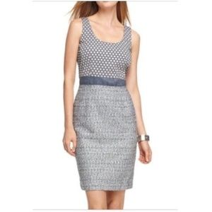 Calvin Klein Polka Dot + Tweed Sleeveless Dress 4